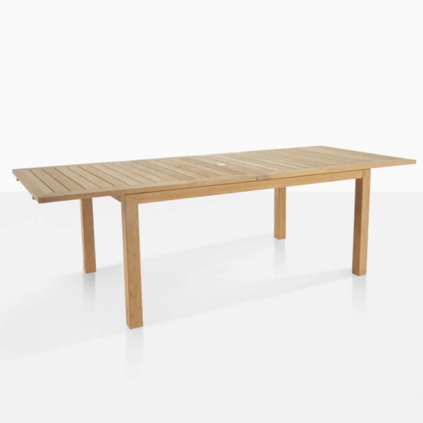 Monaco outdoor teak dining table open
