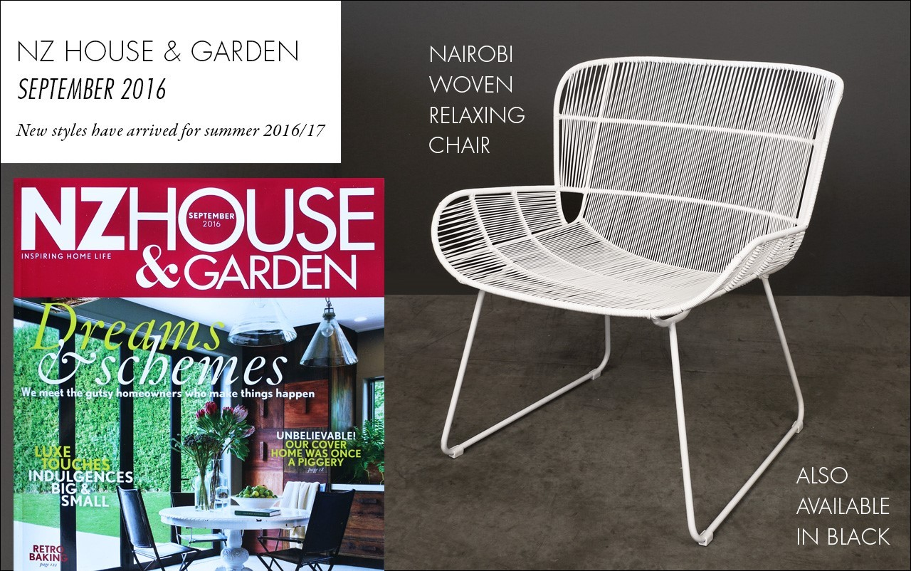 Nairobi Woven Relaxing Chair featured in NZ House and Garden