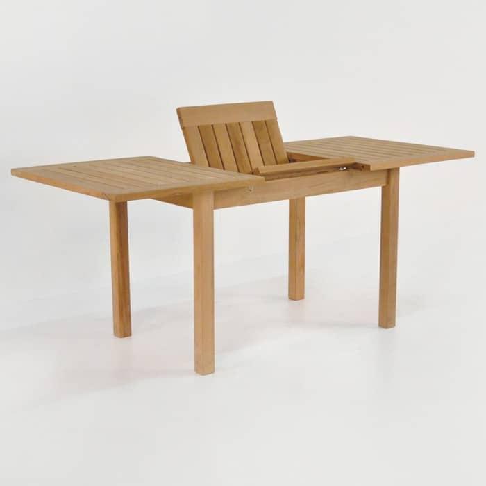 Nova Rectangle Teak Extension Outdoor Dining Tables  : nova rect ext 51 70 4 from designwarehouse.co.nz size 700 x 700 jpeg 39kB