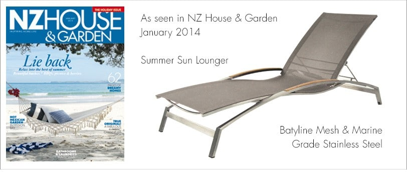 Summer Sun Lounger in NZ House and Garden