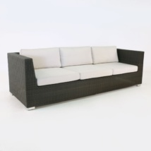Paulo Outdoor Wicker Sofa java