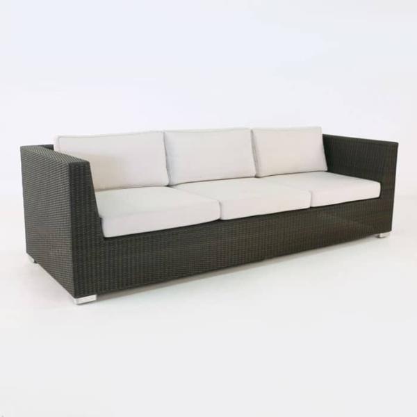 Paulo Outdoor Wicker Sofa java