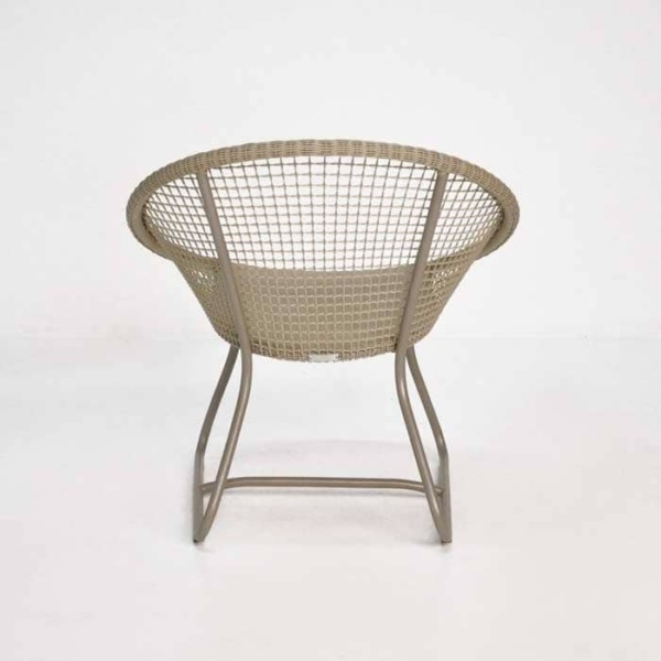 Pietro Outdoor Relaxing Wicker Chair back view