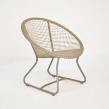 Pietro Outdoor Relaxing Wicker Chair angled view