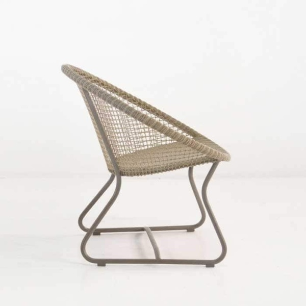 Pietro Outdoor Relaxing Wicker Chair side view