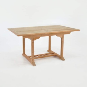 Rectangle Teak Extension Dining Table 120cm-0