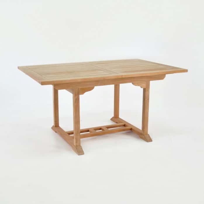 Rectangle Teak Extension Dining Table 120cm-0