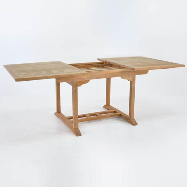 Rectangle Teak Extension Dining Table 120cm-1568