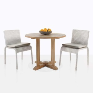 Zambezi Wicker And Teak Dining Set