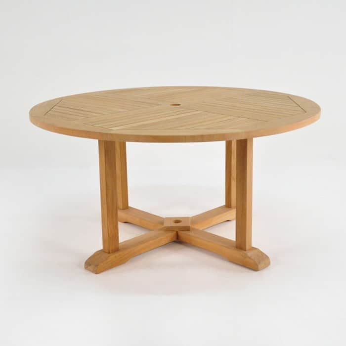 Round Teak Pedestal Outdoor Dining Tables Design  : roundped58 from designwarehouse.co.nz size 700 x 700 jpeg 43kB