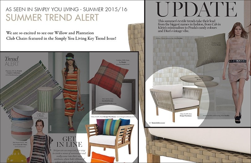 Summer Trend Alert: Design Warehouse Club Chairs in Simply You Living