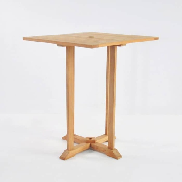 Square Bar Table with 4 Verona Chairs Teak Bar Set-2758