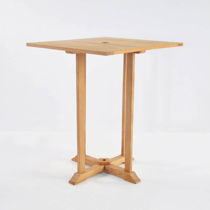 Design Warehouse Square Bar Height Table Set With 4 Chairs