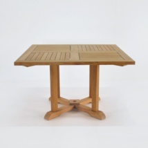 Square Teak Pedestal Dining Table