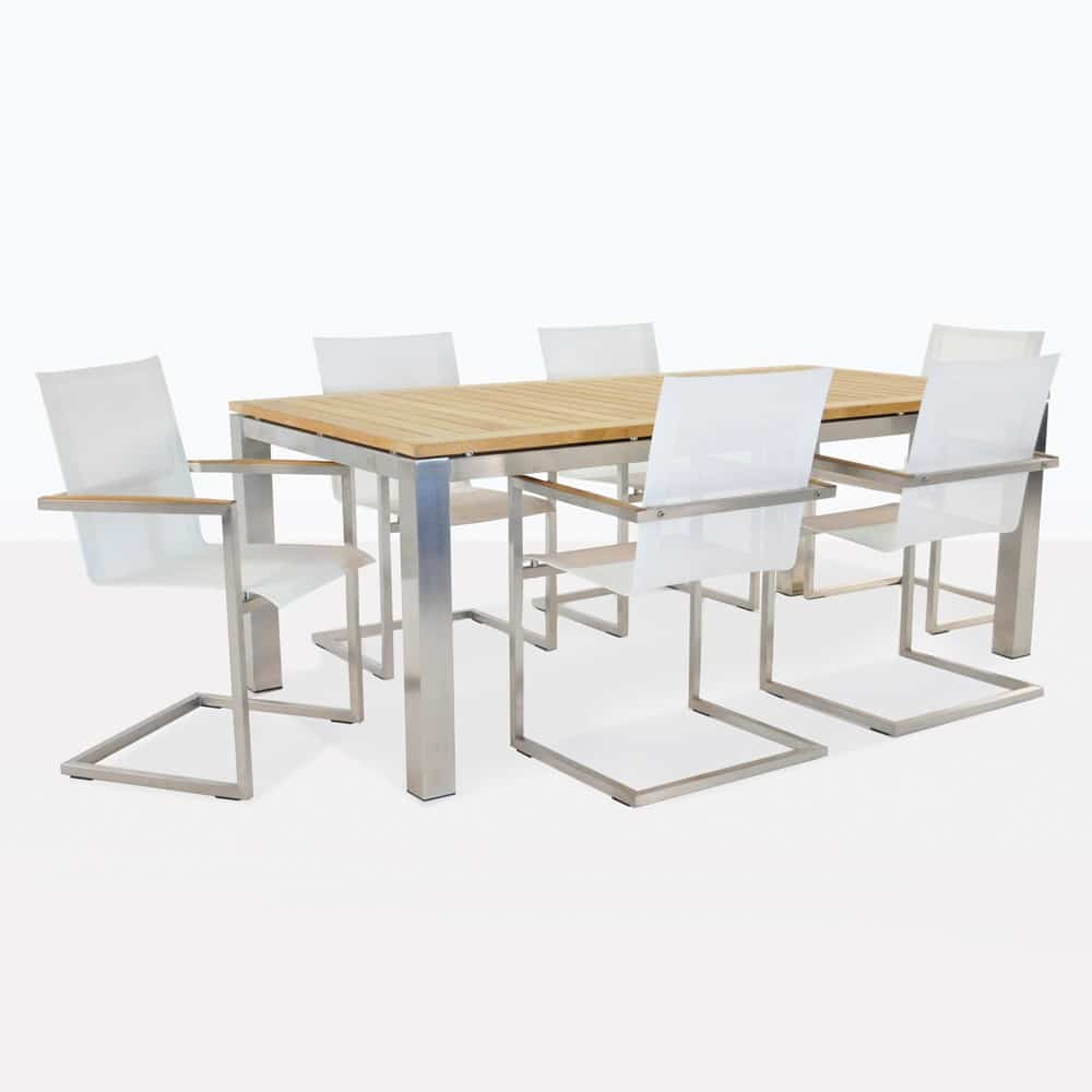 design warehouse  stainless steel dining table