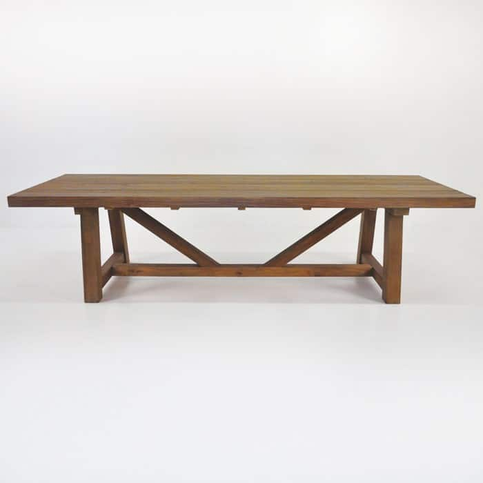 Trestle Dining Table (Reclaimed Teak)-1592