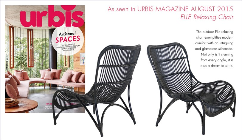 Elle Relaxing Chair As Seen in Urbis August Issue