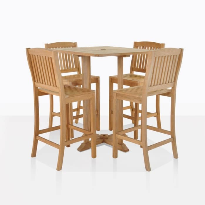Verona Teak Bar Set For Four