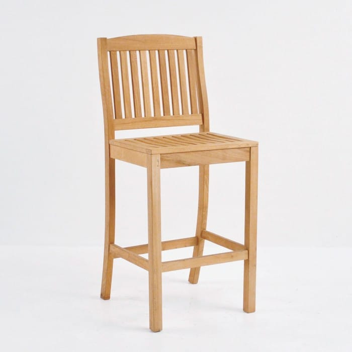Square Bar Table with 4 Verona Chairs Teak Bar Set-2759