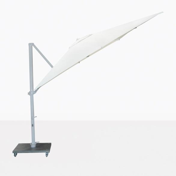 Antigua white cantilever umbrella