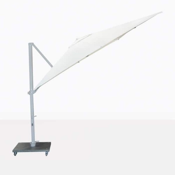 Antigua white cantilever umbrella