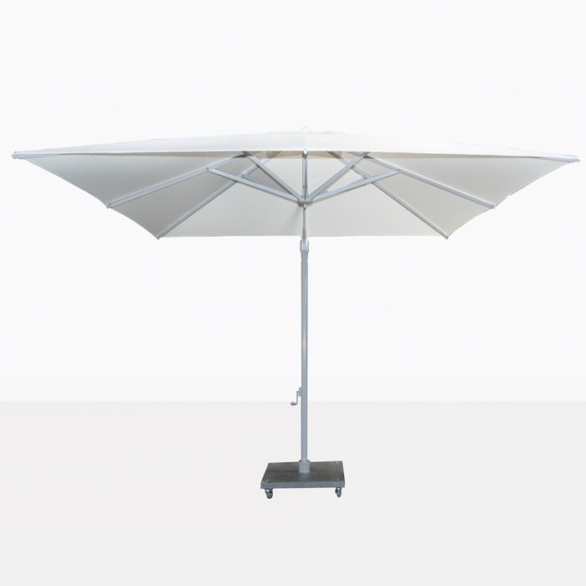 Antigua white cantilever patio umbrella