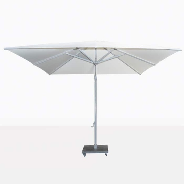 Antigua white cantilever patio umbrella