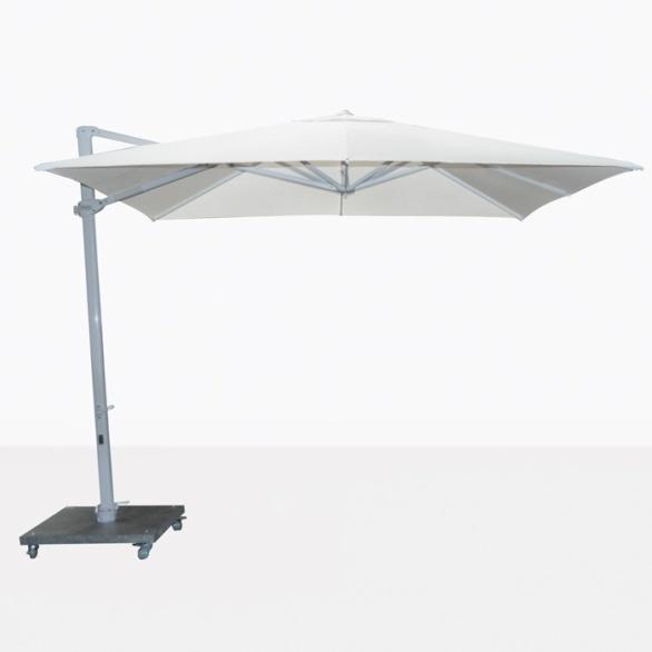 Antigua white cantilever large patio umbrella