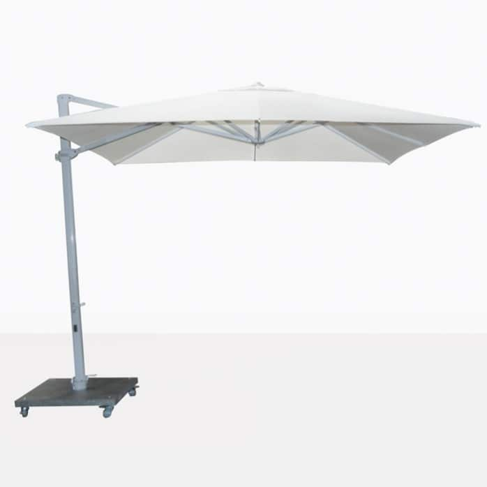 Antigua white cantilever large patio umbrella