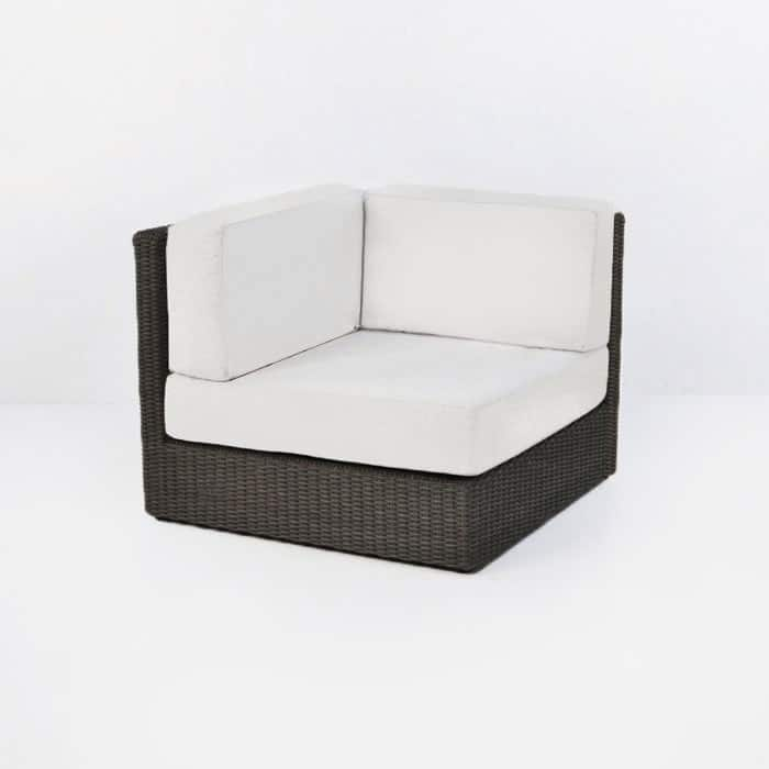 Austin outdoor wicker corner chair with three cushions