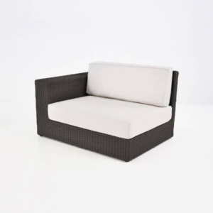 Austin Outdoor Wicker Sectional Java front view