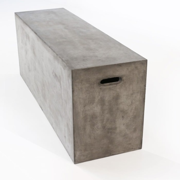 concrete outdoor sitting bench Blok