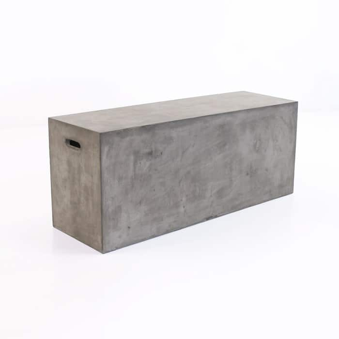 outdoor concrete dining bench Blok