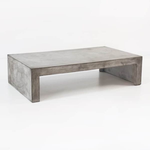 Blok Concrete Waterfall Coffee Table Outdoor Accent Design