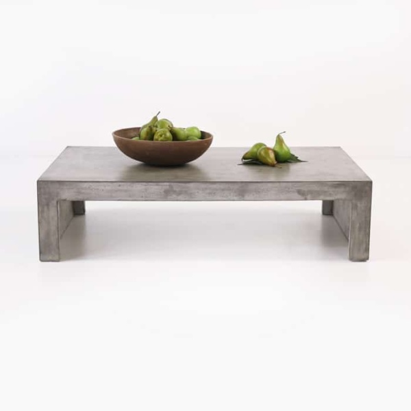 rectangular concrete coffee table Blok
