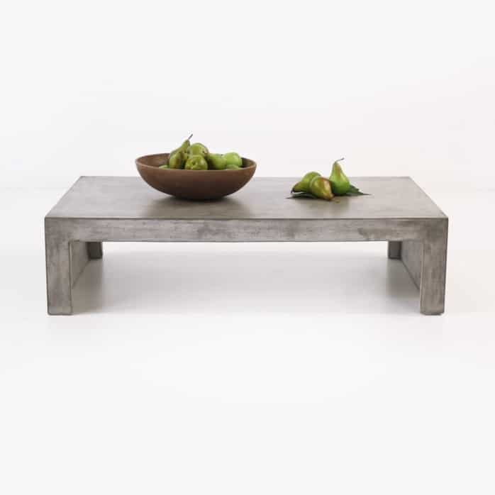 Blok Concrete Waterfall Coffee Table Outdoor Accent Design Warehouse - Rectangular concrete coffee table