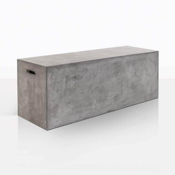 letter box bench concrete anlge