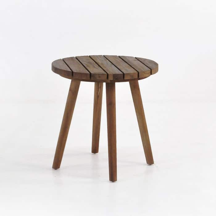 manhattan reclaimed teak side table