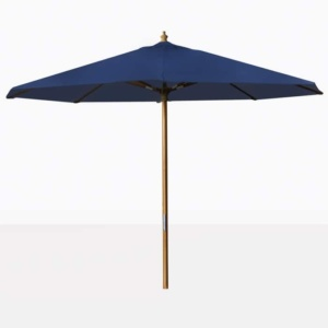 blue outdoor market patio umbrella