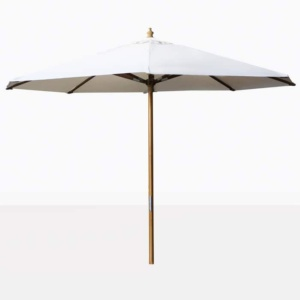 white outdoor market patio umbrella