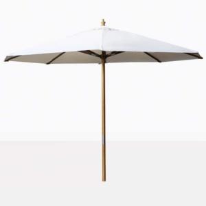 white outdoor market patio umbrella