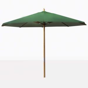 outdoor market patio umbrella with green canopy