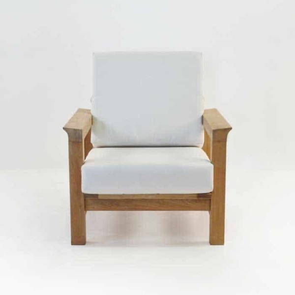 monterey teak club chair with cushions