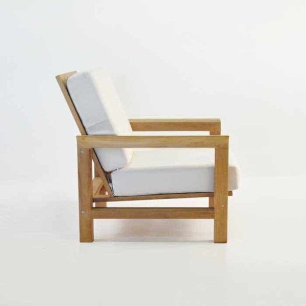monterey teak club chair side view