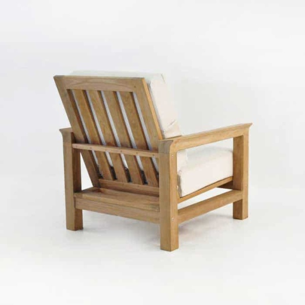 monterey teak club chair back angle view