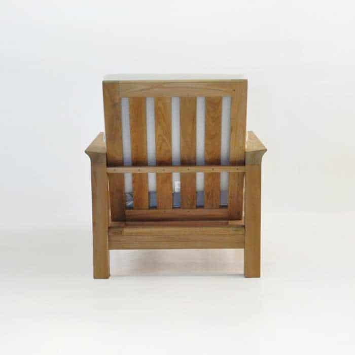 monterey teak club chair rear view