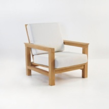 monterey teak club chair with sunbrella cushions