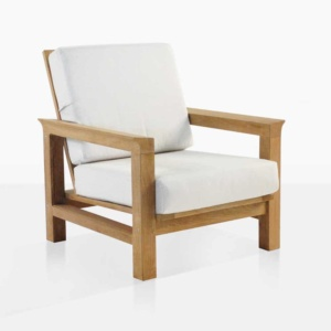 monterey teak outdoor club chair angle