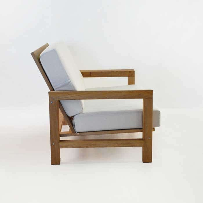 monterey teak loveseat side view