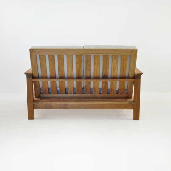 monterey teak loveseat rear view
